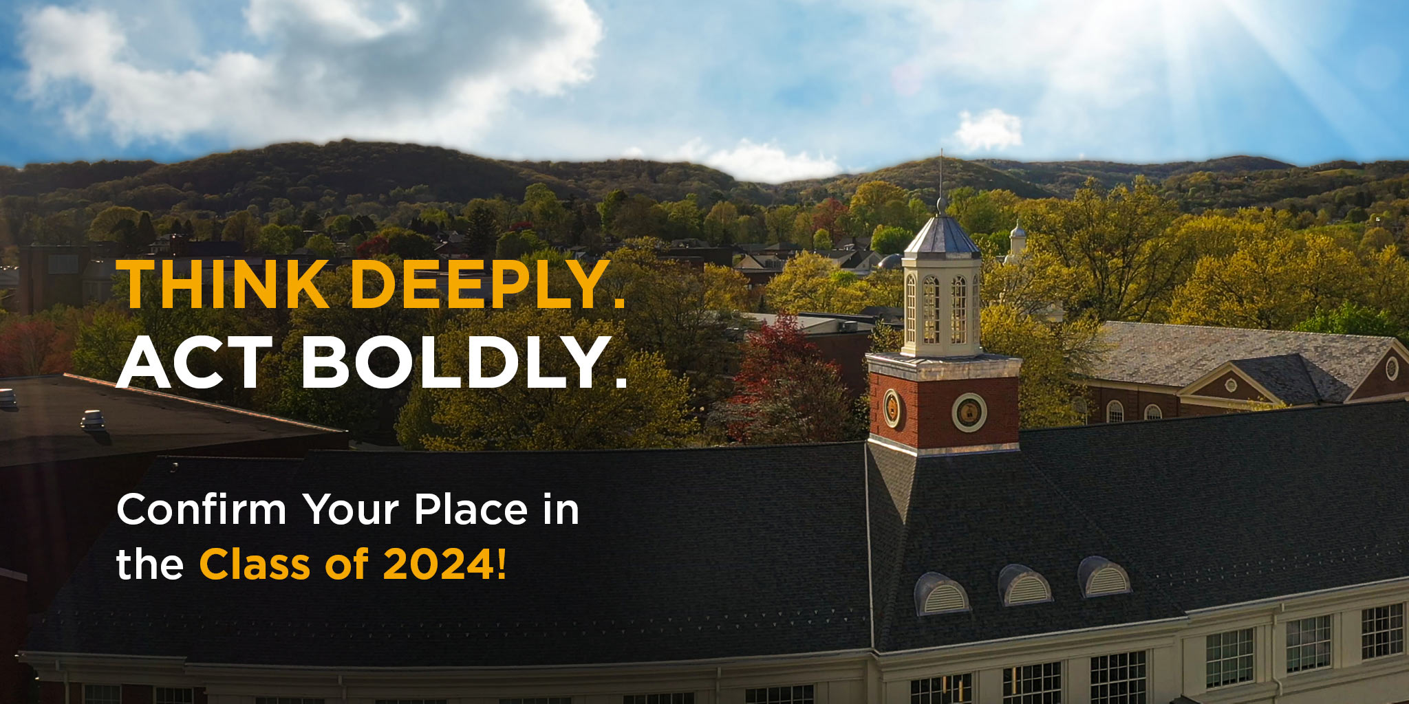 Confirm your place in the class of 2024