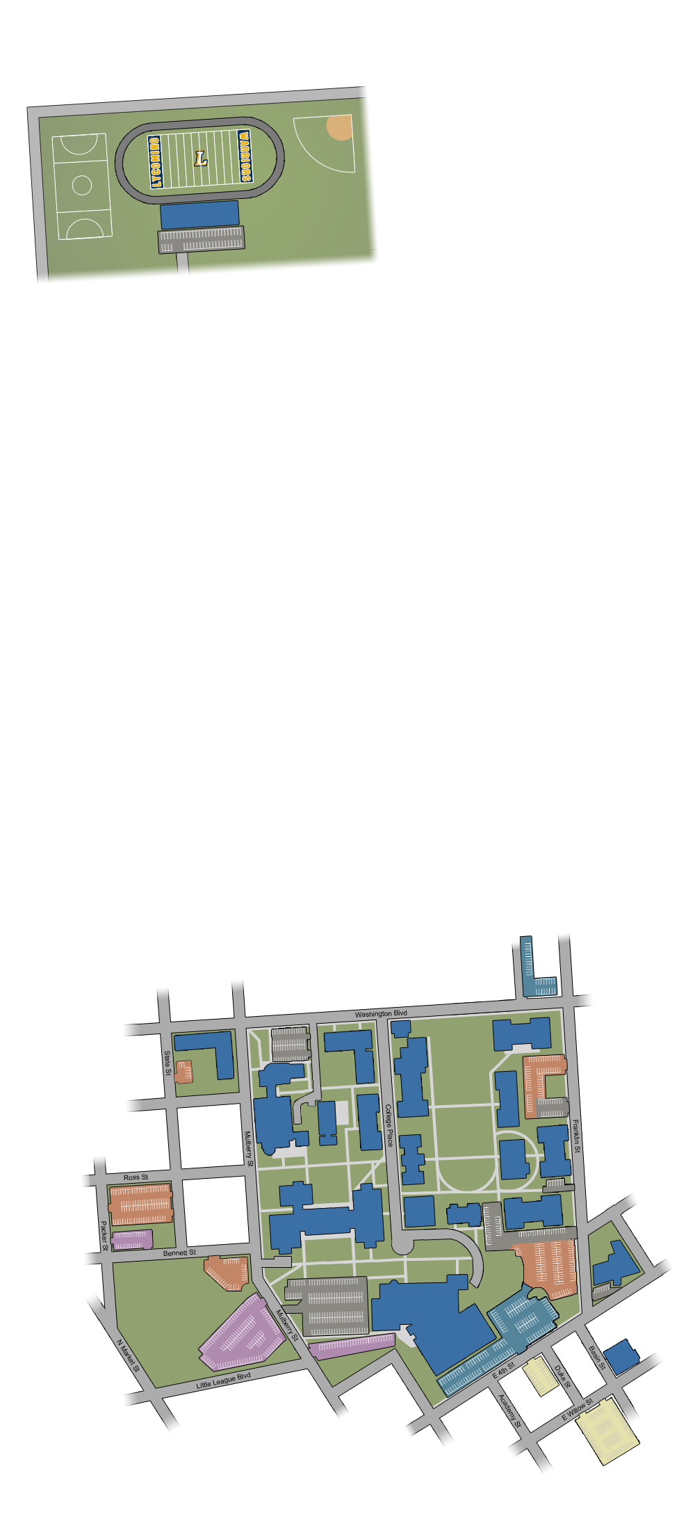 Susquehanna Campus Map.Campus Map Admissions Lycoming College